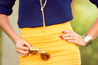 For details of this look go to https://lookchicblog.com/2015/10/19/blue-and-yellow/
