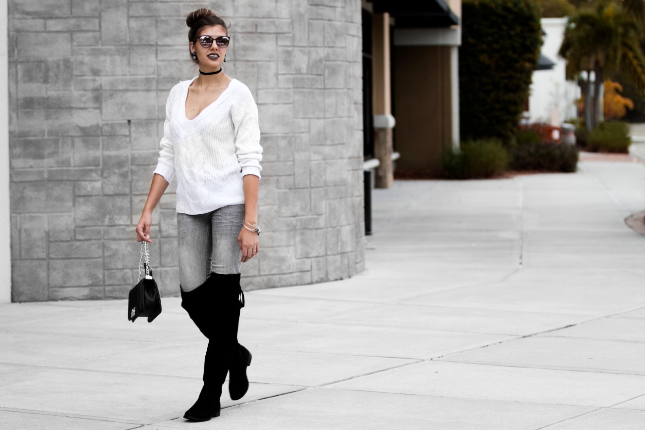 c2b5713bdbae3 I paired these boots with a baggy, comfortable sweater, and grey jeans, but  It can be styled with anything from leggings, to sweater dresses.